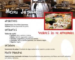 Segunda Edición Cena Japonesa – Viernes 20 de Noviembre