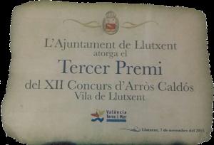 3º Premio concurs Arròs Caldós