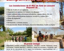 CAMPAMENTO DE VERANO El Mas de Xetà 2016