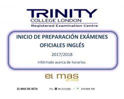 Prepárate con nosotros y certifica tu nivel de Inglés – Trinity-