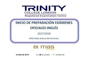 PUBLICICDAD TRINITY EL MAS DE XETA